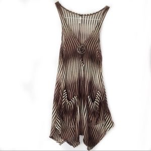 Paradise Striped Knit Sheer Beach Cover Dress
